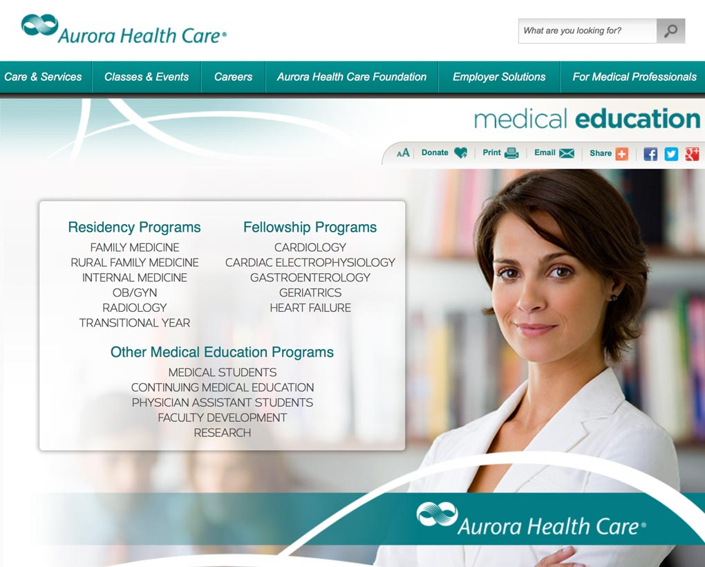 Aurora Medical Education Website