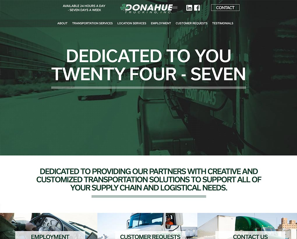 Donahue trucking Website