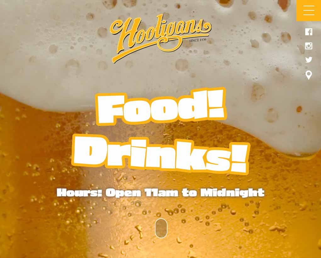 Hooligan's Super Bar Website