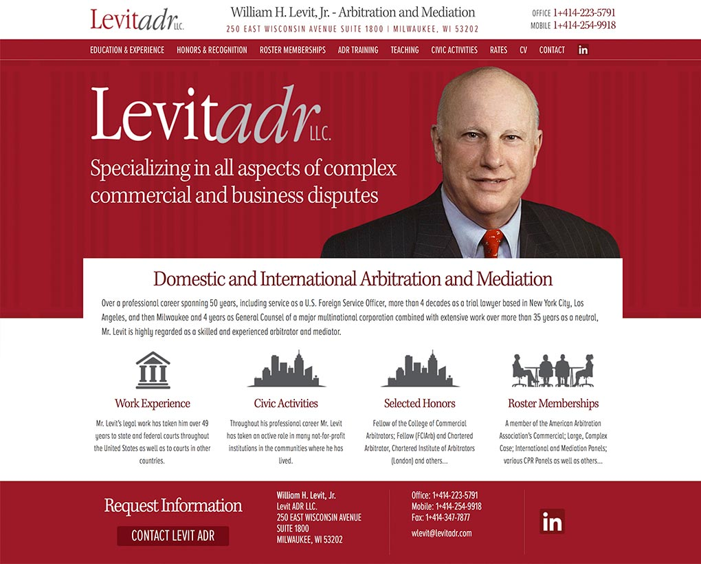 Levit ADR Website