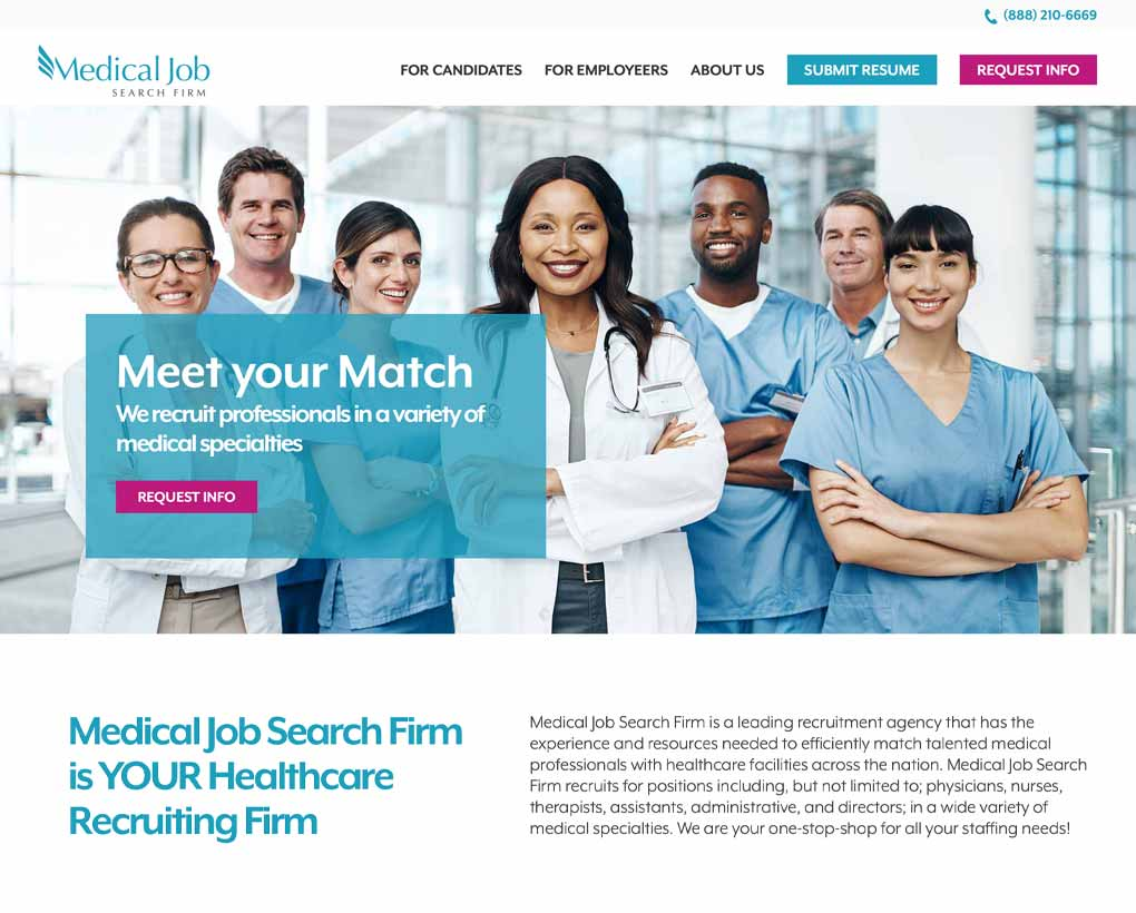 Medical Job Search Firm Website