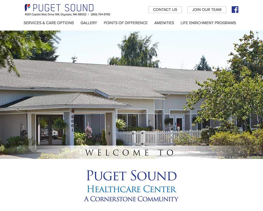 Puget Sound Healthcare Center Website