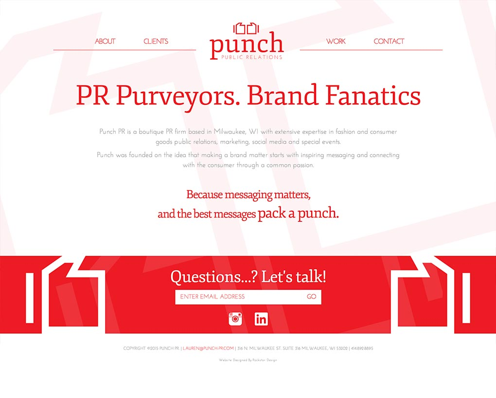 Punch PR Website