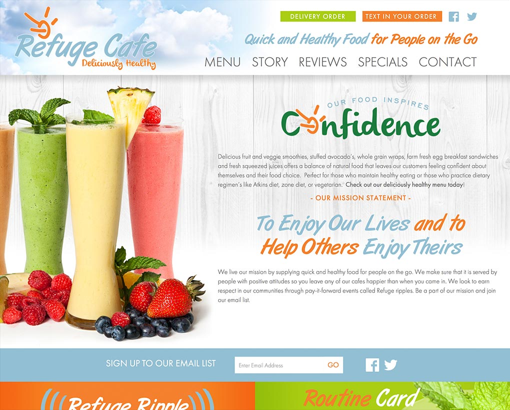 Refuge Smoothies Website