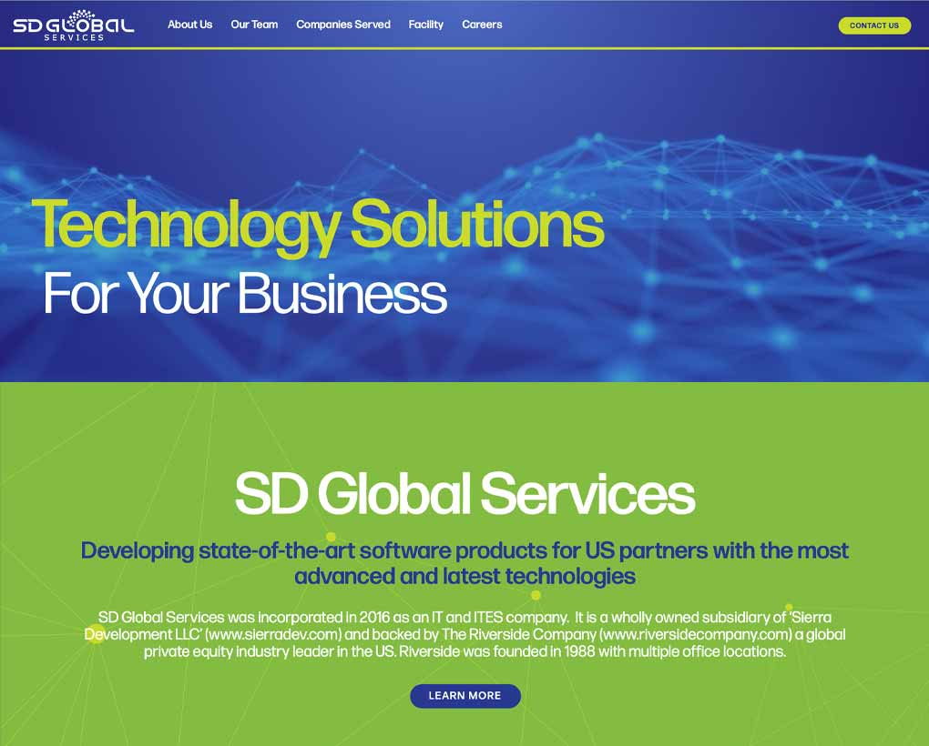 SD Global Services Website