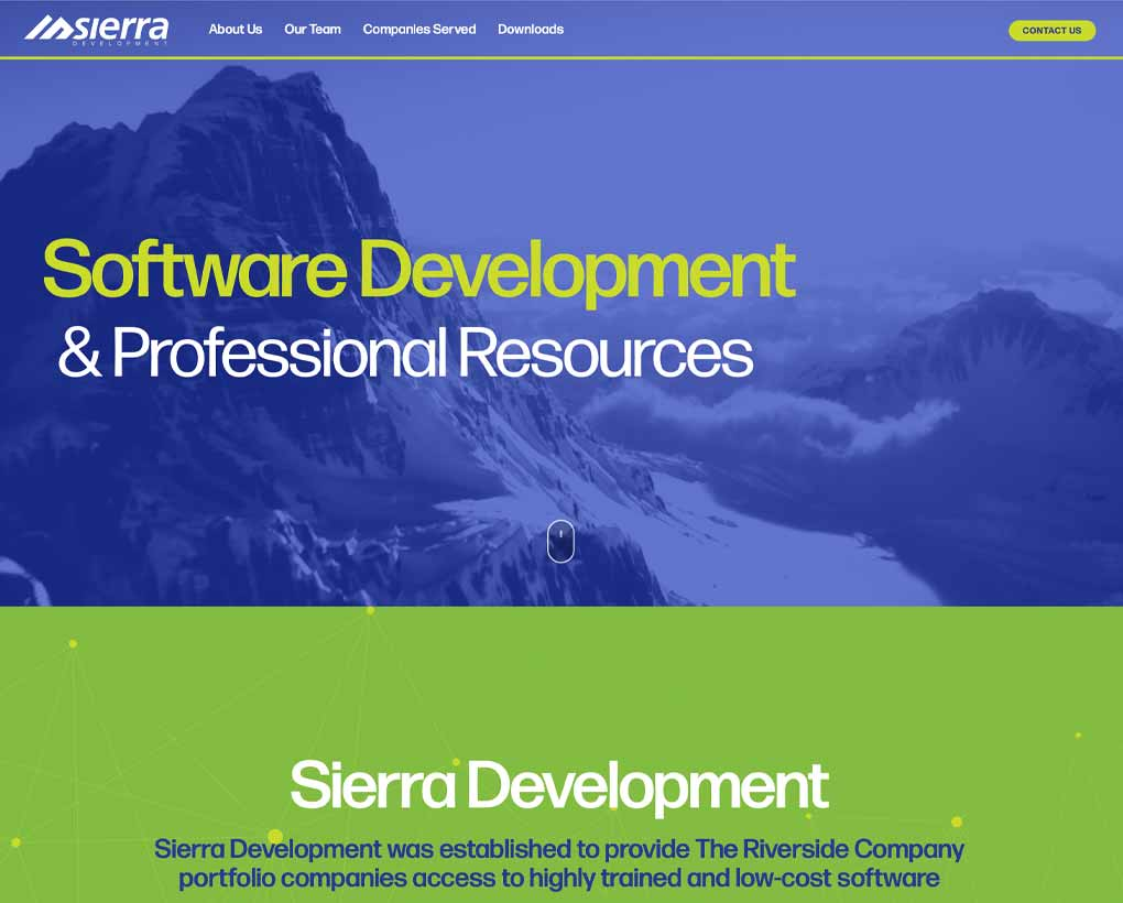 Sierra Development Website